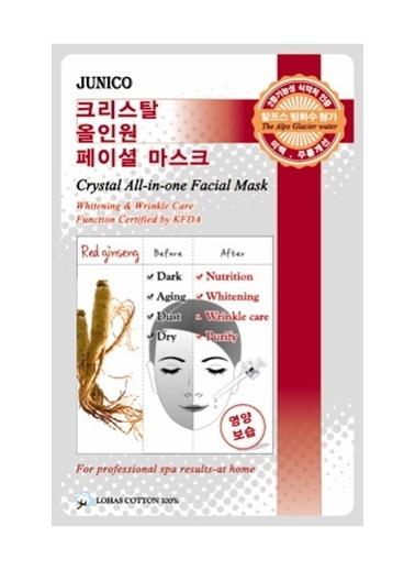 Junico Crystal - Kırmızı Ginseng Özlü Yüz Maskesi Renksiz